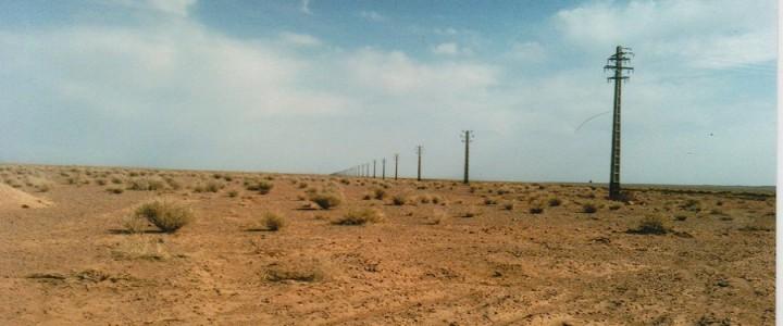 شبکه ی فشار متوسط هوایی در پروژه ی پتاس و معادن ابرکوه